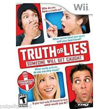 THQ 126787 Truth or Lies for Nintendo Wii