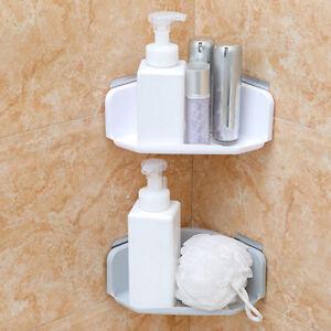 Sleek Corner Rack Shelf Organizer Caddy Storage Bathroom Shower Wall Basket mhjj
