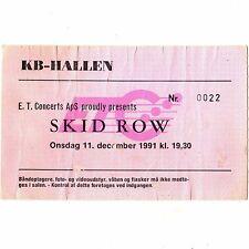 SKID ROW & LA GUNS Concert Ticket Stub COPENHAGEN DENMARK 12/11/91 FORUM Rare