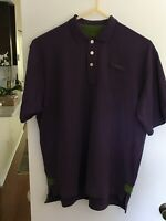 ORVIS Mens Purple Xtra-Large Rugby Polo Heavy Cotton Short Sleeve Shirt *EUC*