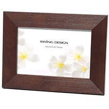 Original Linia Walnut Solid Wood Elegant 4x6 Photo Picture Frame by Swing Design