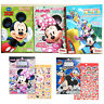5X Disney Mickey Mouse Minnie Mouse Clubhouse Activity Coloring Books & Stickers