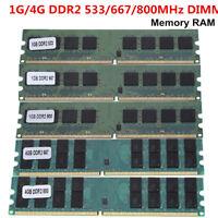 1GB/4GB DDR2 PC2-4200/5300/6400 533/667/800MHZ DIMM Desktop for AMD Memory Ram