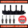 4x Genuine NGK Spark Plugs & 1x Ignition Coil for Holden Barina XC Fiat Stilo