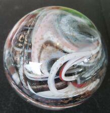 "Handmade SAMMY Sam Hogue  3"" Swirl multi color PAPERWEIGHT"