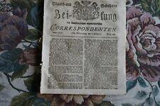 1810 Zeitung 22 / Erdbeben Raab / von Velozero/ Karlsruhe