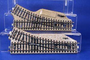 Lot of 2 Marklin HO Scale M Type Manual RH Switch Tracks 5202