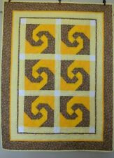 Green & Yellow Snail Baby FINISHED QUILT Handmade BEAUTIFUL!  Crib Size