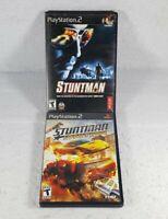 Stuntman & Stuntman Ignition (Sony PlayStation 2, PS2 Black Label) Set Lot