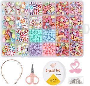 Perlen Zum Auffädeln, DIY Perlen Set Armbänder Selber Machen Kinder Schmuck Schn