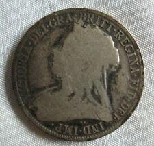 Silver 1900 Florin 2 Shillings