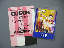 GoGos backstage pass Laminated Authentic 2001 + Satin Prime Time pass!