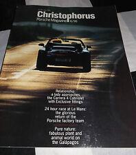CHRISTOPHORUS PORSCHE MAGAZINE 261 JULY 1996 PORSCHE 928 LE MANS 911 GT1 WSC-95