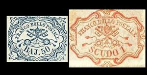PAPAL STATE 1852 SASS 10 &11 QUALITY FACSIMILES