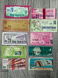 1950's VALENCIA SPAIN Tickets Collection International Friendly matches etc x 10