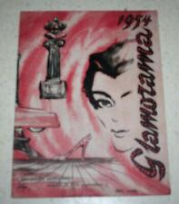 1954 Glamorama Program 1st World's Fair of Fashion Beauty Roberta Linn Autograph