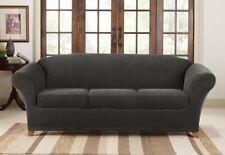 NEW Sure Fit jet black 4 piece Pique Sofa sure fit surefit slipcover slip cover