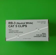 (PACK OF 400) Cat5 (05NW-Neutral White) Telecrafter Cable Clip/Staple