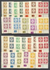 Böhmen & Mähren Dienst 1-12 **Viererbl. Eckrand+Bogen Nr. 25 W ganz kpl.! (B-87)