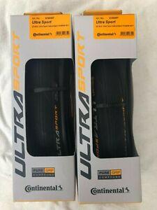 Continental Ultra Sport III 25mm  Road Bike Tyres Black Pair New