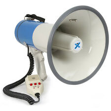 MEGAPHONE Bull Horn 60Watts Siren with MP3 Player Handheld PA Loudspeaker for...