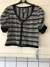 New Ladies Size 18/20 Black And White Cardigan From Evie