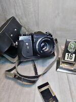 "ZENIT ET BLACK Edition RARE Soviet SLR film camera w/s lens ""Helios 44M"" EXC"