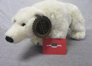 "FAO Schwarz 18"" Polar Bear Plush Stuffed Animal BRAND NEW WITH TAGS  FREE SHIP"