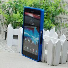 Slim Screwless Blue Aluminum Metal Case Frame Bumper for Sony Xperia Z L36H