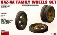 MiniArt 35099 GAZ AA Family Wheels Set - LKW Räder Rad - 1:35