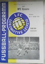TOP!! Programmheft 11.10.1972 1.FC Lok Leipzig BFC Dynamo Berlin DDR Oberliga SC