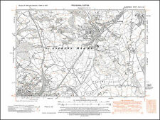 Barry N, Dinas Powis, St Andrews Major, old map Glamorgan 1947: 47SW repro Wales