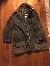 VinTage Barbour GAMEFAIR Waxed Cotton Jacket 40 inches Green  Made in England