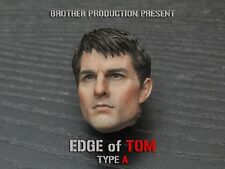 1/6 Scale Edge of Tomorrow Tom Cruise Head Carved Us Actor Male Head Model