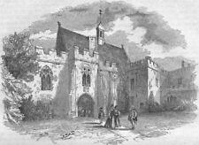 KENT. First Court-yard, Penshurst 1850 old antique vintage print picture