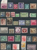 Lot Stamp Germany Estonia Poland China WW2 Hitler Feldpost Hindenburg Feldpost U