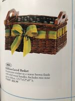 Ribbon Laced Basket Vintage Home Interiors & Gifts