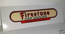 "Firestone / Thermador Car Cooler Sticker, evaporative swamp cooler decal 4.5"""