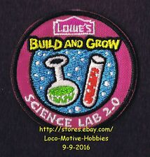 LMH PATCH Badge  2014 SCIENCE LAB 2.0 Test Tube  LOWES Build Grow Kids Clinic