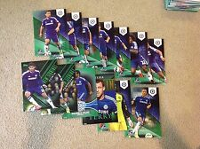 Chelsea  Green Team Set 14/99 made 2014/15 Topps Barclays Premier Gold 5x7