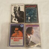 Lot of 4  Blues Audio Cassettes Albert Collins Gary Moore Buddy Guy Miles Davis