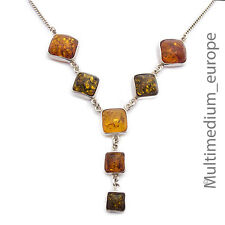 Bernstein Collier Anhänger Sterling Silber mit Sporen amber silver necklace 925