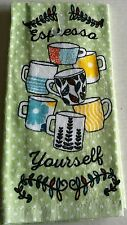 "Kitchen Towel ESPRESSO YOURSELF 15"" X 25""  100% Cotton"