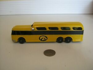 Vintage Tootsietoy 6-Inch Greyhound Bus. Repainted Old Gold and Black.