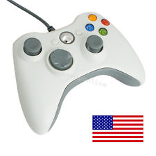 Wired USB Gamepad Controller Joystick Joypad Resembles XBox360 for PC White