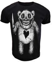 Evil Teddy T Shirt Mens womens gothic rock punk goth alternative tee gift