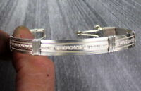 Bracelet in Sterling Silver Size 6 to 9 Wire Wrapped