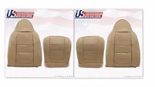 2001 Ford F250 Lariat Front Bottoms & Tops Leather Seat Covers Parchment TAN