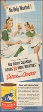 1940's Vintage ad for Old Dutch Cleanser`art Tub retro fashion       (040518)