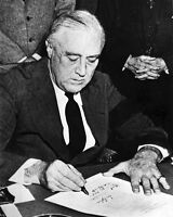 New 11x14 World War II Photo: Franklin Roosevelt Signs War Declaration on Japan